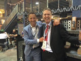 Boris Wintermans (Agio Cigars) and Hans Rijfkogel (AMS)