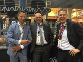 Boris Wintermans (Agio Cigars), Marcel Michels (Agio Cigars) and Hans Rijfkogel (AMS)