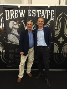 Rich Cutler (Senior VP Drew Estate) and Hans Rijfkogel