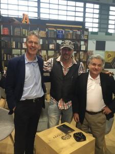 Hans Rijfkogel, Fabien Ziegler (Drew Estate) and David Salem (Director International Sales Swisher/Drew Estate)